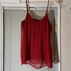 The limited burgundy tank top
